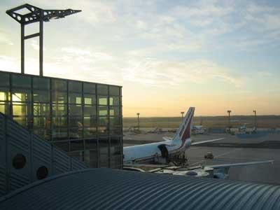 Morgenstimmung am Flughafen Frankfurt