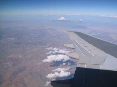 In der Verlängerung der Tragfläche: der Ararat