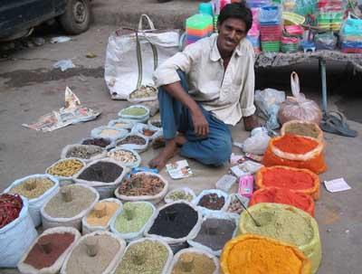 Gewürzhändler in Delhi
